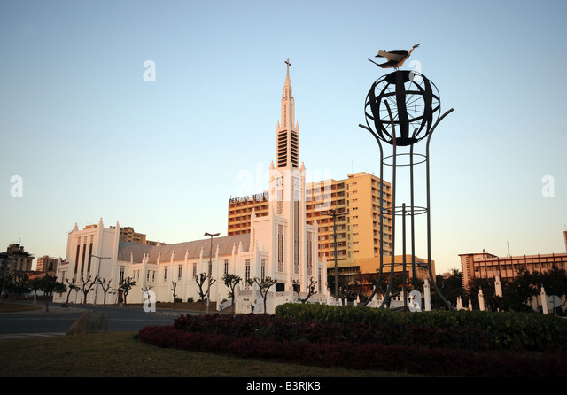 The Catholic cathedral of Nossa Senhora da Conceicao in Maputo, Mozambique. - Stock Image
