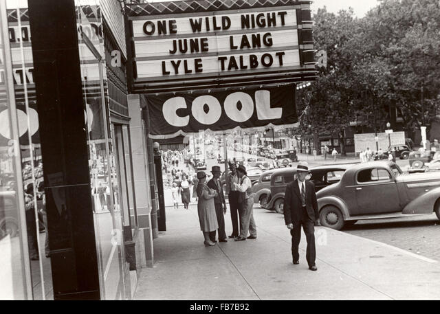 Movie theater, Ohio, America, 1930's - Stock-Bilder