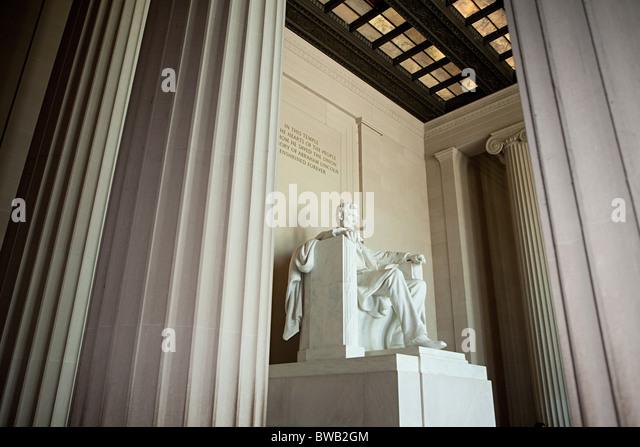 Lincoln memorial, Washington DC, USA - Stock Image