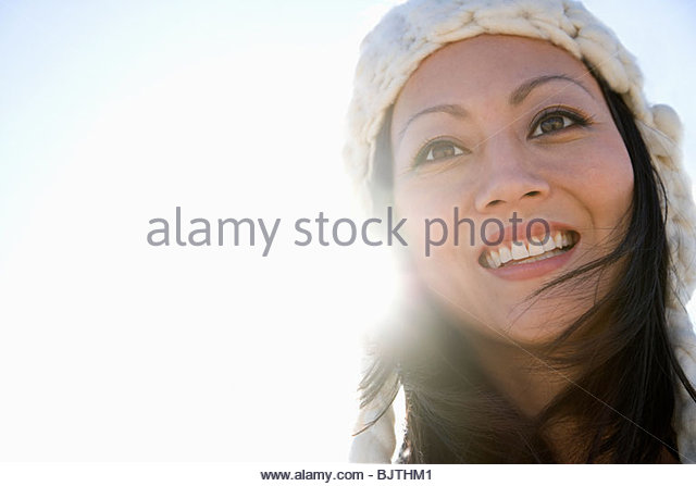 Woman and sunlight - Stock Image
