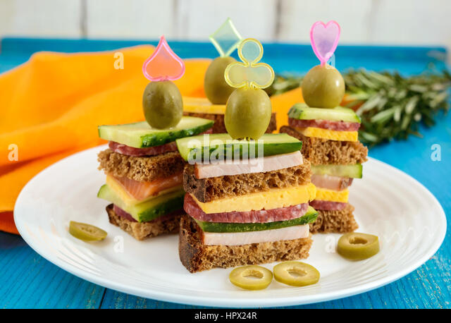 Mini cucumbers stock photos mini cucumbers stock images for Canape sandwich