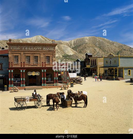 Mini Hollywood (Spaghetti Western film set), near Tabernas, Andalucia, Spain, Europe - Stock Image