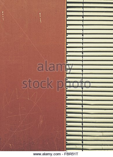 Blinds By Brown Wall - Stock-Bilder
