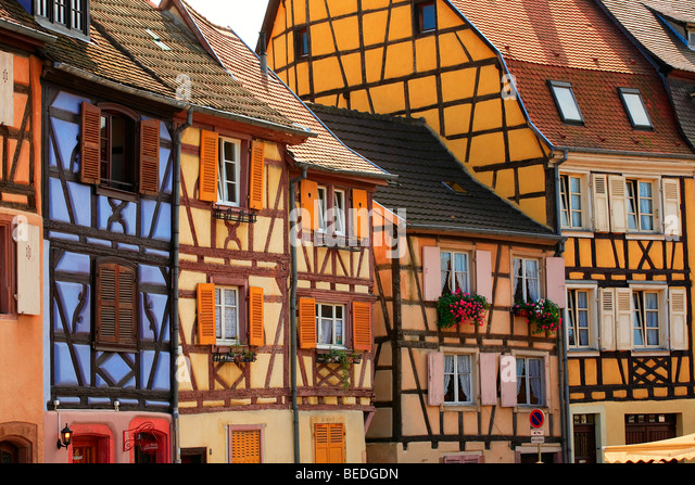 CITY CENTER OF COLMAR, ALSACE, FRANCE - Stock Image
