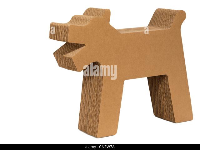Cardboard Dog Cutout - Stock Image