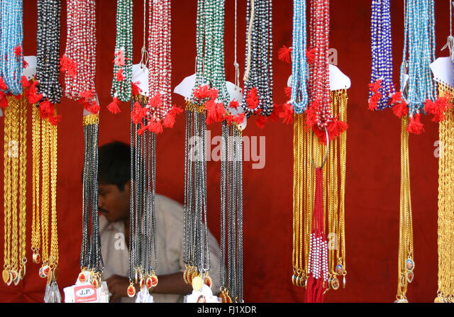 Pushkar mela – Pushkar camel fair – festival in Rajasthan, India – atmosphere and street scene - Stock Image