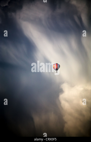 Shot of clouds and blue sky at summer time - Stock-Bilder