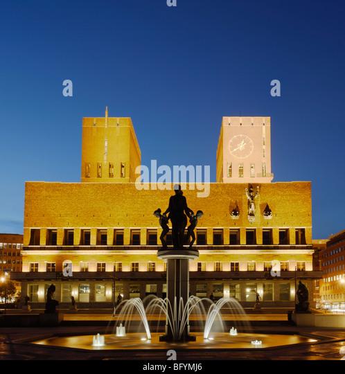 Oslo City Hall - Stock Image