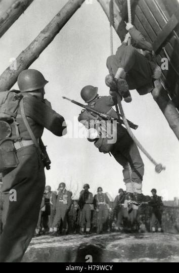 Military training, Denmark - Stock Image