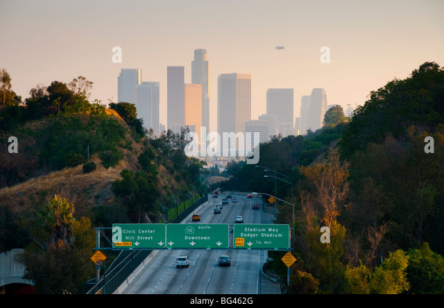 USA, California, Los Angeles, Route 110 - Stock-Bilder