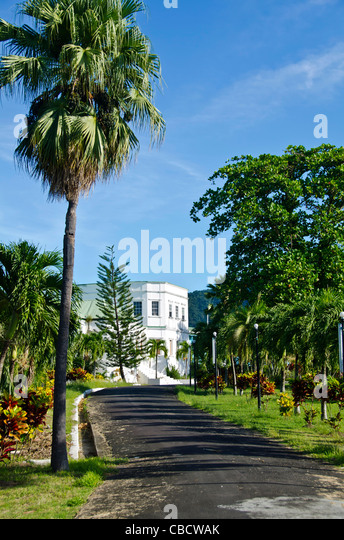 Roseau Dominica State House, former governor's residence in a large garden - Stock Image