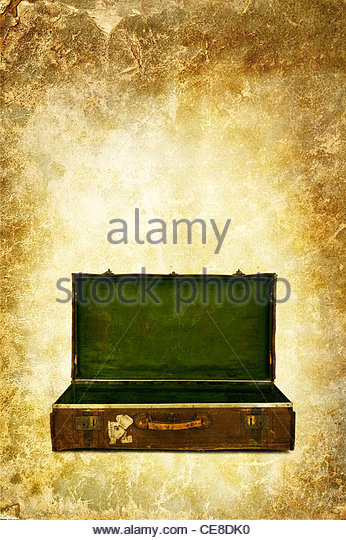 open suitcase - Stock Image