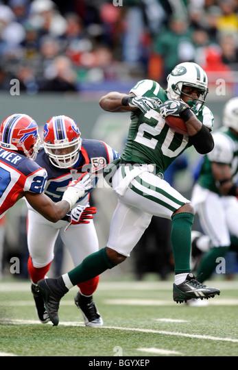 Thomas Jones #20 of the New York Jets - Stock Image
