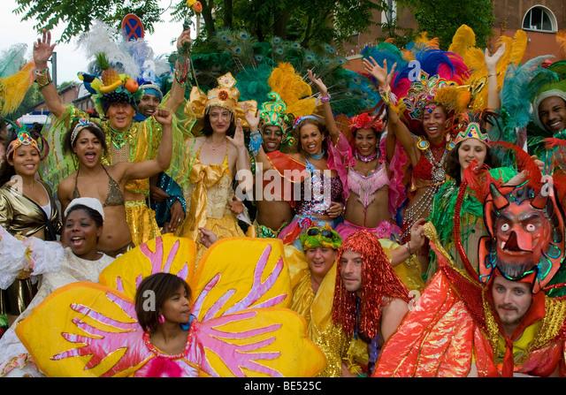 Amasonia group, Carnival of Cultures 2009, Berlin, Germany, Europe - Stock-Bilder