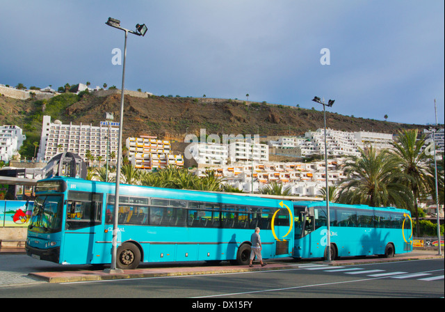 Long distance bus stock photos long distance bus stock images page 6 alamy - Taxi puerto rico gran canaria ...