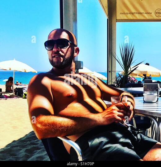 Drink on the beach - Stock-Bilder