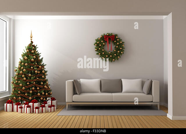 Modern contemporary christmas wreath stock photos modern contemporary christmas wreath stock for Living room sessions christmas