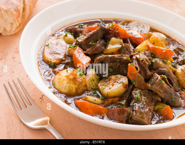 Rabo de Toro- Boneless Oxtail and Potato Stew - Stock Image
