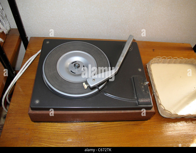 Nostalgic LP music turntable - Stock-Bilder