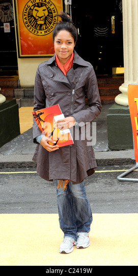 Naomie Harris Disney's 'Lion King' 10th anniversary at the Lyceum Theatre - Arrivals London, England - Stock Image