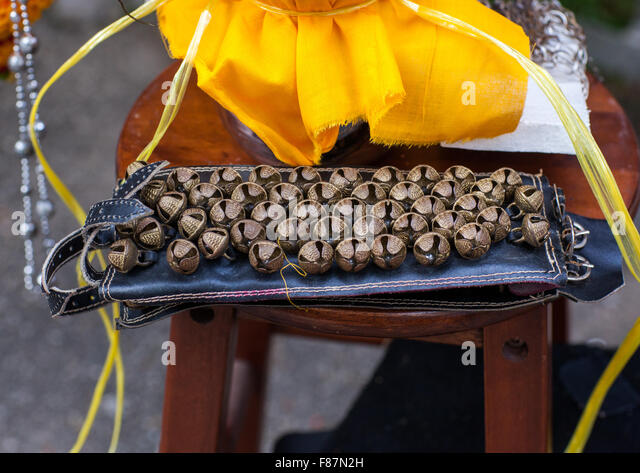 Bells For Hindu Devotees In Annual Thaipusam Religious Festival In Batu Caves, Southeast Asia, Kuala Lumpur, Malaysia - Stock Image