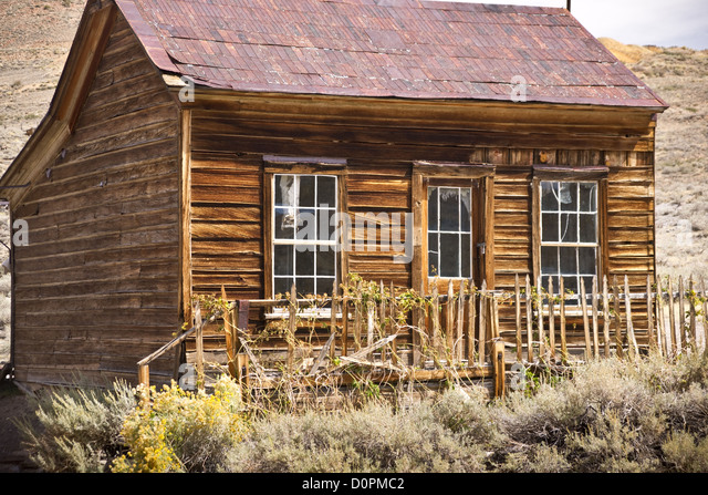 Rustic Old West House in a Ghost Twon - Stock Image