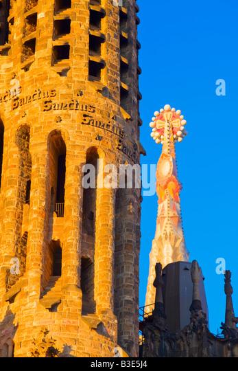 La Sagrada Familia Basilica Barcelona Catalonia Spain - Stock Image
