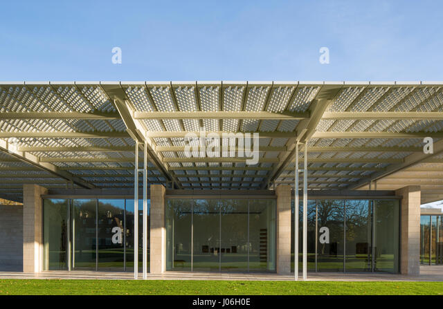 Front Elevation Metal Roofing : Architecture colonnade column copy stock photos