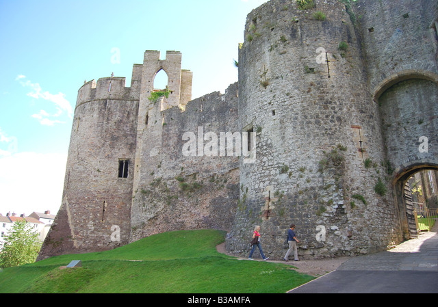 Chepstow Castle and the River Wye, Chepstow, Monmouthshire, South ...