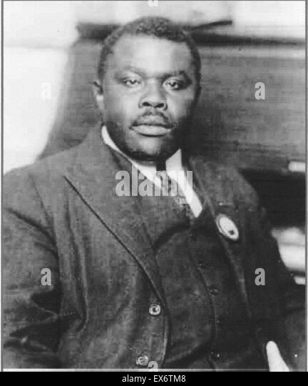 Marcus Mosiah Garvey, Jr., ONH (17 August 1887 – 10 June 1940), was a Jamaican political leader - Stock Image