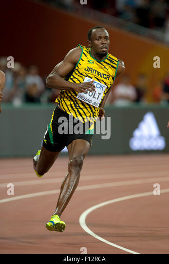 Beijing, China. 25th Aug, 2015. Usain Bolt (JAM) Athletics : 15th IAAF World Championships in Athletics Beijing - Stock Image
