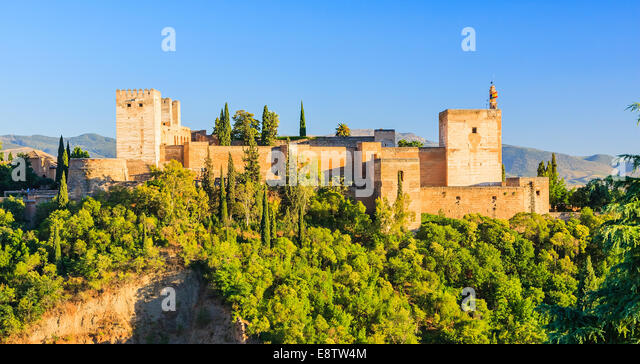 Alhambra palace, Granada, Spain - Stock Image