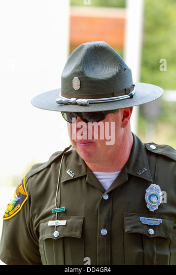 Portrait of an Indiana department of natural resources employee. - Stock Image