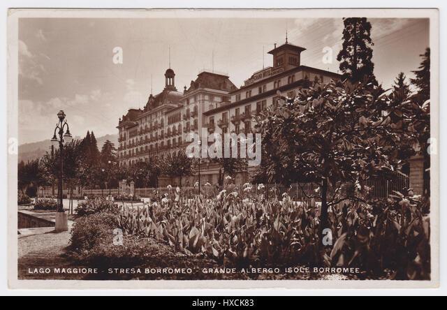Grand Hotel Des Iles Borromees, Stresa, Italy - Stock Image
