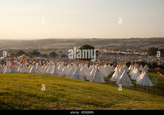 The Stone circle at the Glastonbury Festival 2009  - Stock Image