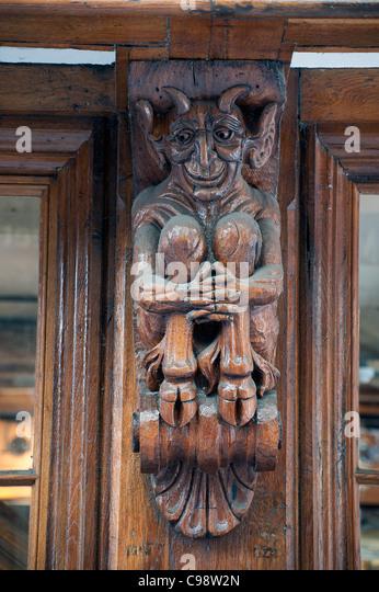 Carved canterbury stock photos