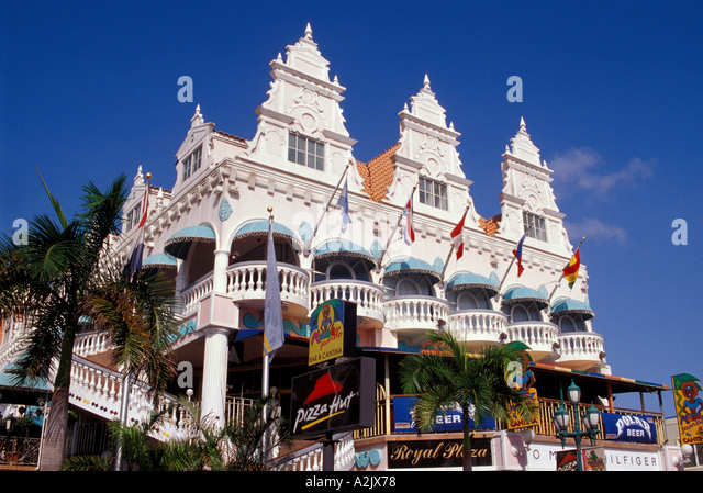 Aruba Downtown Oranjestand Shopping Royal Plaza Mall - Stock Image