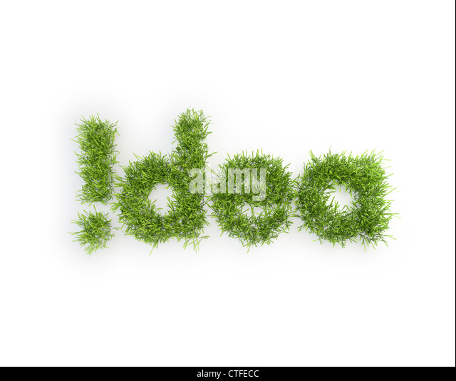Idea grass patch - creativity concept - Stock-Bilder
