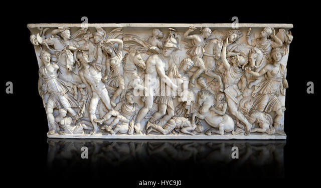 sarcophagus depicting battle Sarcophagus sections with men fighting amazons a sarcophagus depicting an ahead to late antique battle sarcophagi (the ludovisi sarcophagus in the.
