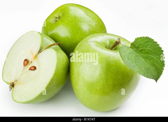 Green apples - Stock Image