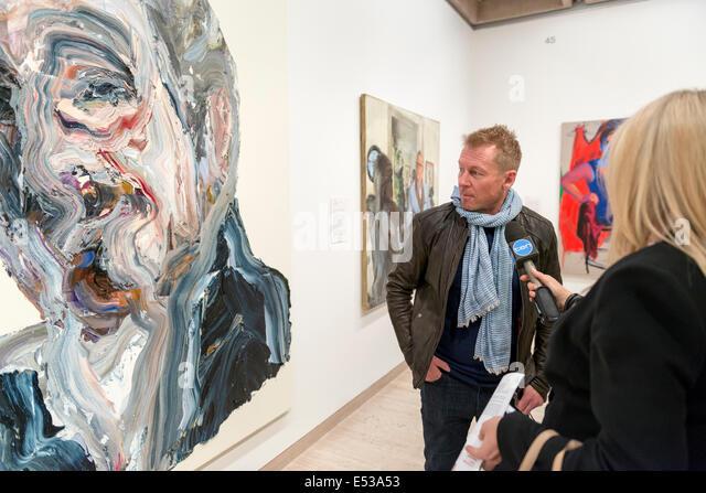 Sydney, Australia. 18th July, 2014. AUSTRALIA, Sydney. 18th July, 2014: Actor Richard Roxburgh talks to the media - Stock Image