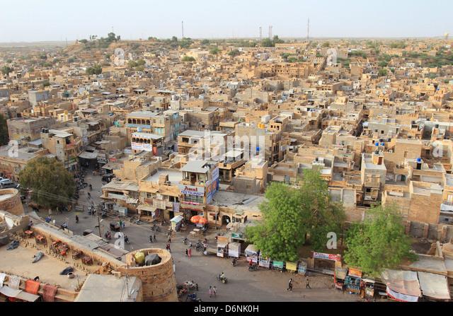 Jaisalmer, view from the fortress, Rajasthan, Indien - Stock-Bilder