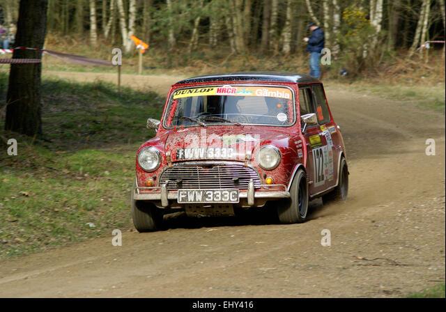 Mini Cooper S Rally Car - Stock Image