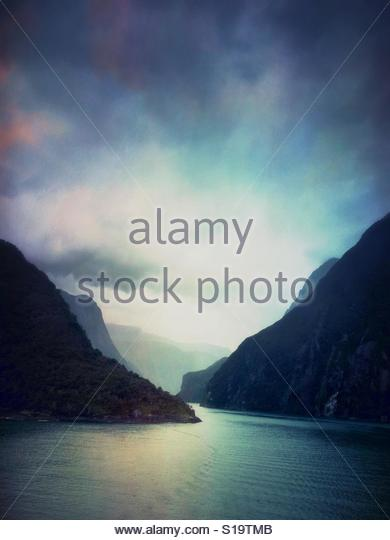 Fiords, Milford Sound, New Zealand - Stock Image