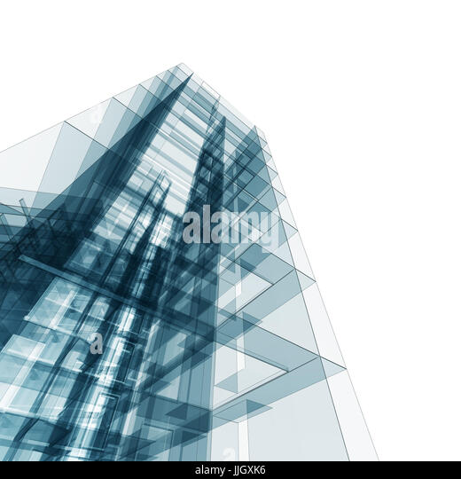 Abstract architecture 3d - Stock Image