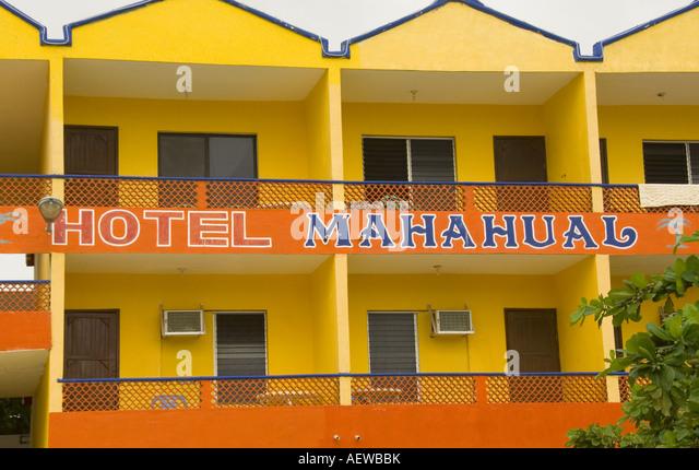 Costa Maya Mexico Hotel Mahahual - Stock Image