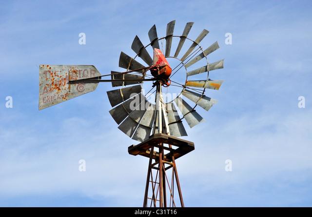 wind mill on farm in Colorado - Stock-Bilder