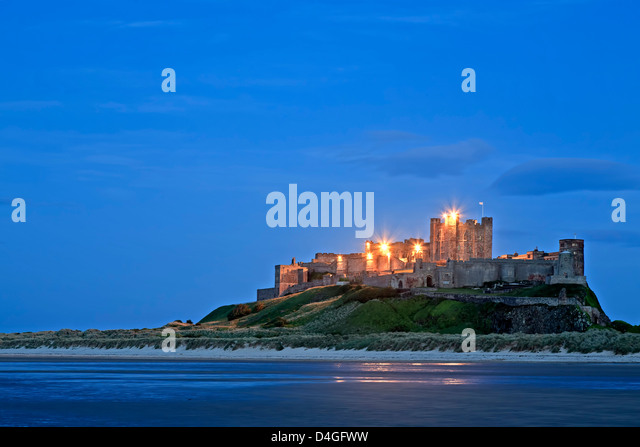 Bamburgh Castle, Bamburgh, England, United Kingdom - Stock Image