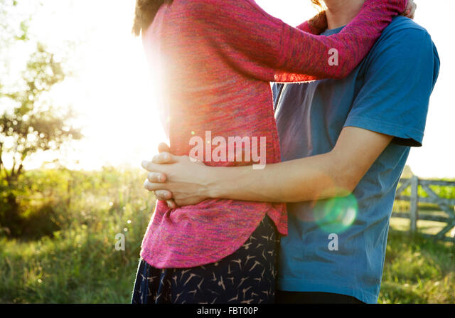 Couple embracing - Stock-Bilder