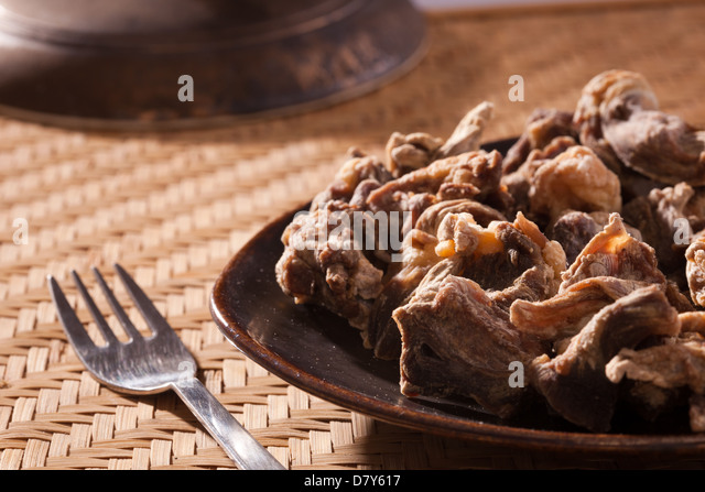 Uppu Kandam(Dried Mutton)- Sun-dried and marinated with just the right amount of sea salt. - Stock Image